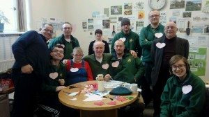 Goldcrest working with the charity Green Team